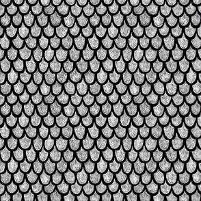 dragon scales - white on black