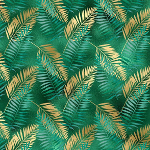 EMERALD N GOLD PALMS