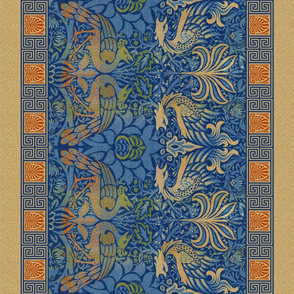 William Morris ~  Peacock and Dragon Border Print ~ Bright Original ~ Medium