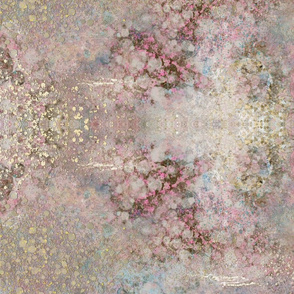 Pink and Gold Texture Abstract Painting
