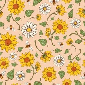Peach Sunflowers