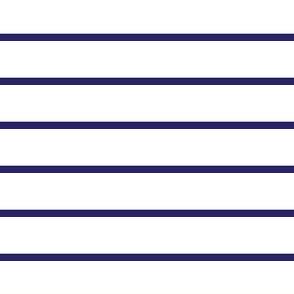 Narrow retro stripe navy blue horizontal
