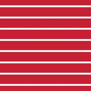 Red with narrow white stripe horizontal