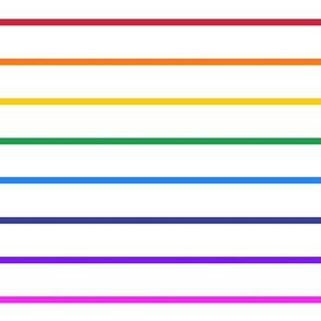 Narrow bright rainbow stripe horizontal (large)