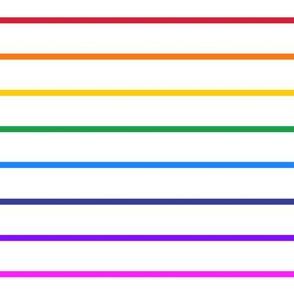 Narrow bright rainbow stripe horizontal (small)