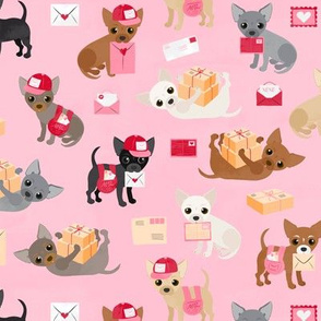 Special Delivery Chihuahuas - Pink Small Scale
