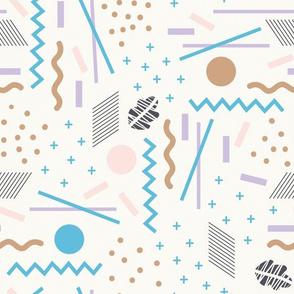 Abstract Confetti Cream