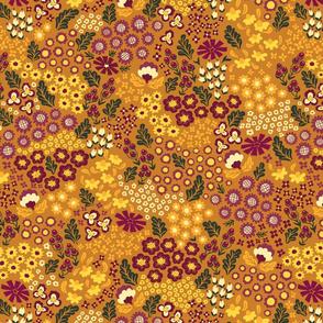 October Ditsy - mustard