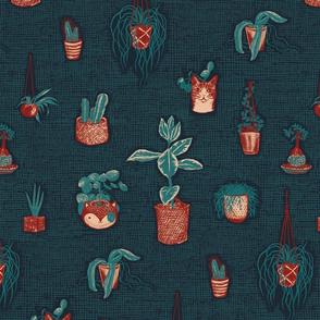 House Plants - navy