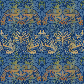 William Morris ~ Peacock and Dragon ~ Bright Original  ~ Medium