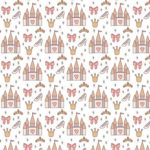 Mini Princess Castles on White