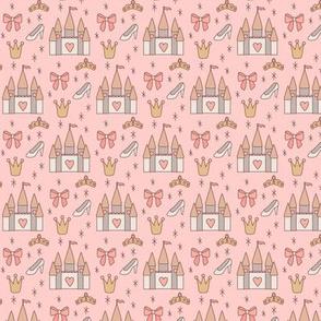 Mini Princess Castles on Pink