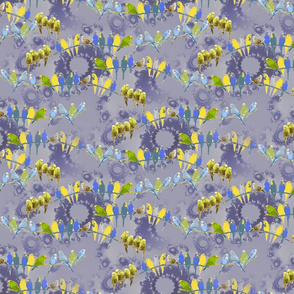 Budgies fractal on lavender