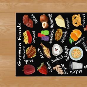 German Foods Alphabet Tea Towel