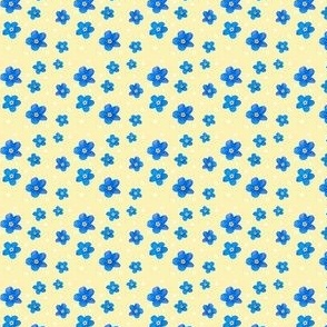 forget me not polkadot DITSY