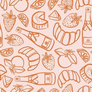 Booze Makes It Brunch   Pink + Orange