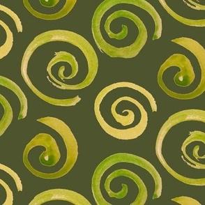 Spirals green