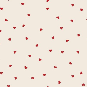 valentines day fabric red hearts on cream