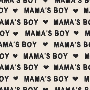 Valentines Day fabric mama's boy text