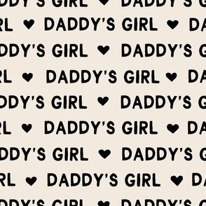 Valentines Day fabric daddy's girl text