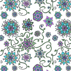 Bohemian flowers and vines