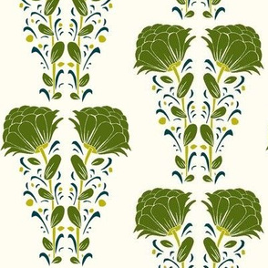 Large double floral_green hues