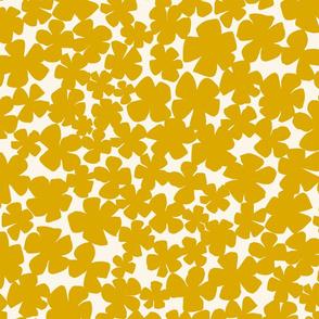 Floral Flutter - Mustard