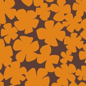 Floral Flutter - Dark Cheddar (Large Scale