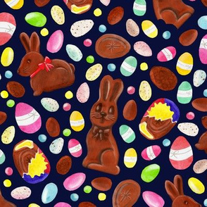 Easter Chocolates - navy [L]