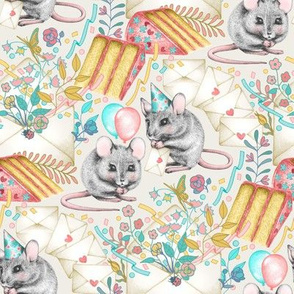 Mouse House Garden Party - Invitations Via Snail Mail - big