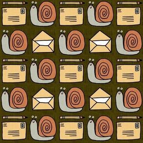 Snail Mail Pen Pals (Medium Scale) olive