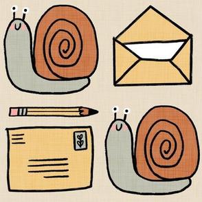 Snail Mail Pen Pals (Large Scale) ecru