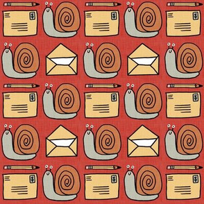 Snail Mail Pen Pals (Medium Scale) red