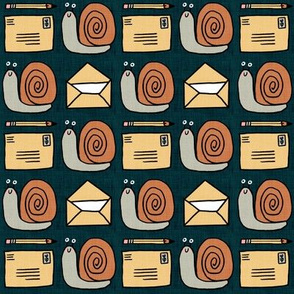 Snail Mail Pen Pals (Medium Scale) navy