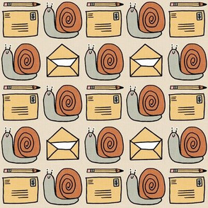 Snail Mail Pen Pals (Medium Scale) ecru