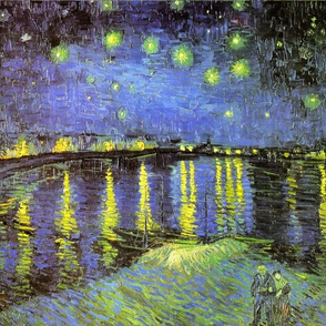 Vincent van Gogh's Starry Night Over the Rhone 1888