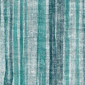 Textured Stripes in Teal Green and Grey - large