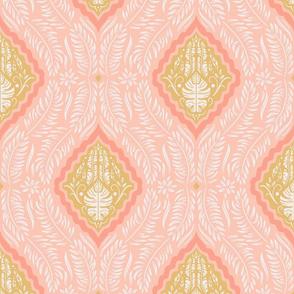 Lamb Illustration's Tropical Block Print - Light Coral