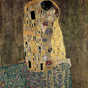 Gustav Klimt's The Kiss 1908