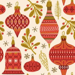 Vintage Baubles ~ Red and Gold (Smaller scale)