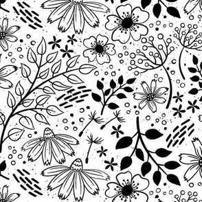 Floral Frenzy-White