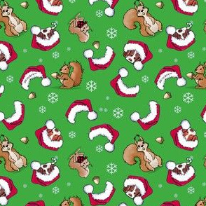 Christmas Squirrels With Brittanies