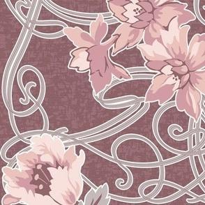 Art Nouveau pink coordinate