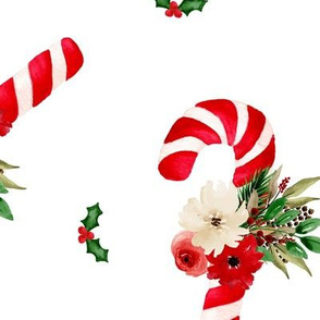 BKRD Floral Candy Canes 20x20