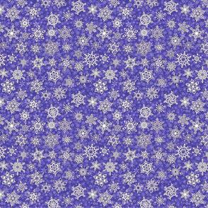 winter snowflakes on lavender violet snowstorm