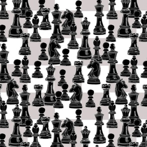 Black Pieces Only Chess