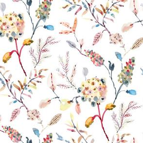 Delicate florals_white