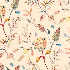 Delicate florals_Beige