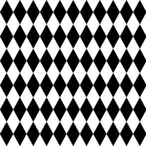 Diamond grid - black and white