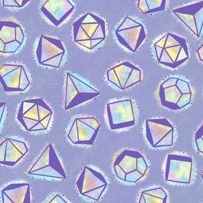 Purple Opal Dice LG